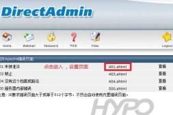 DirectAdmin:自定义错误页面