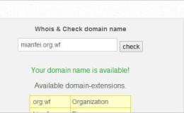 "org.wf/ort.tf 免费""顶级""域名/支持DNS解析"