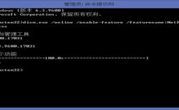 win8系统下安装 .NET Framework 3.5出现错误代码:0x800F0906
